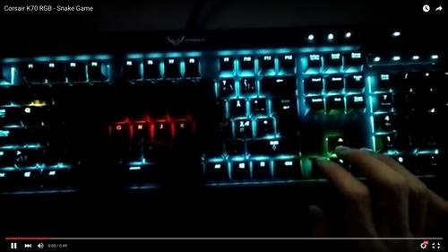 Desarrollan un software que te permite jugar al clásico Snake en un teclado LED