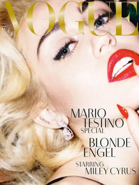 Miley Cyrus Marilyn Monroe portada Vogue Alemania Marzo 2014 por Mario Testino