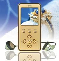 Reproductor MP3 con forma de lingote de oro