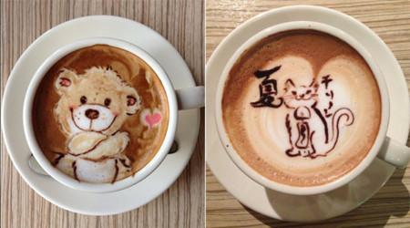 Arte en latte caricaturas