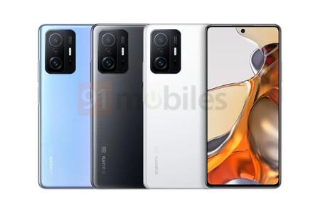 Los Xiaomi 11T y 11T Pro con cámara de hasta 108 megapíxeles se filtran en nuevas imágenes