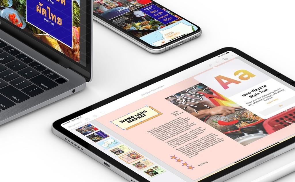 iWork se actualiza para adaptarse a iOS℗ y iPadOS 13