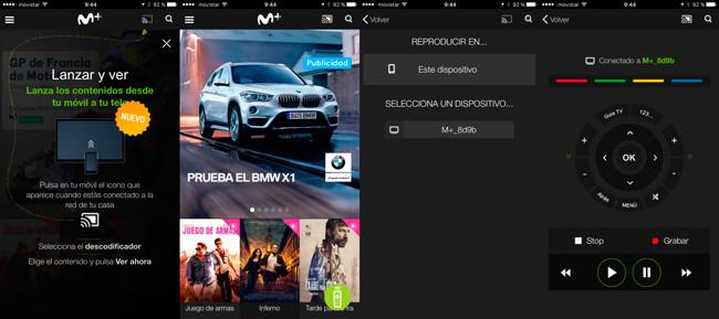 Movistar+ actualiza su aplicación móvil, ahorita además hace de mando del descodificador