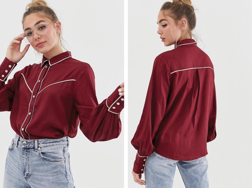 Camisa con detalles estilo western de Monki
