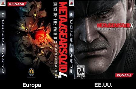 'Metal Gear Solid 4': portadas europea y americana