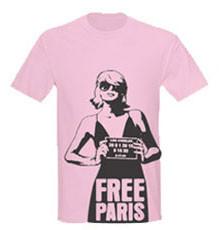 Free Paris Hilton, camisetas por una causa <em>justa</em>