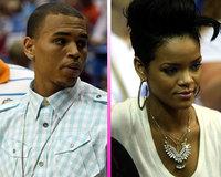 Rihanna y Chris Brown se vieron las caras en el baloncesto