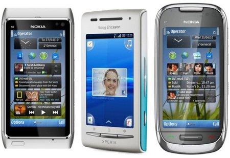 Precios Nokia N8, Nokia C7 y Sony Ericsson X8 con Vodafone