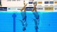Twin-cam: Así se hicieron los planos de natación sincronizda en los JJOO de Londres 2012
