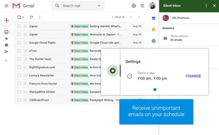 Silent Inbox For Gmail Receive Unimportant Emails And Newsletters On Your Schedule Product Hunt