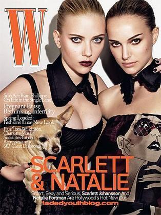 Scarlett Johansson y Natalie Portman en la revista W