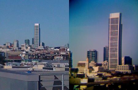 ejemplo uno de foto tomada con iPhone y objetivo de cámara Reflex