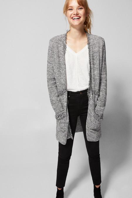 Cardigan Efecto Tweed
