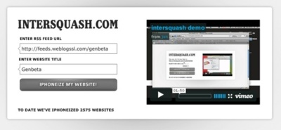 Intersquash, iphonizando sitios web