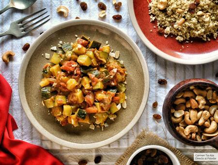 Tajine de verduras con cuscús