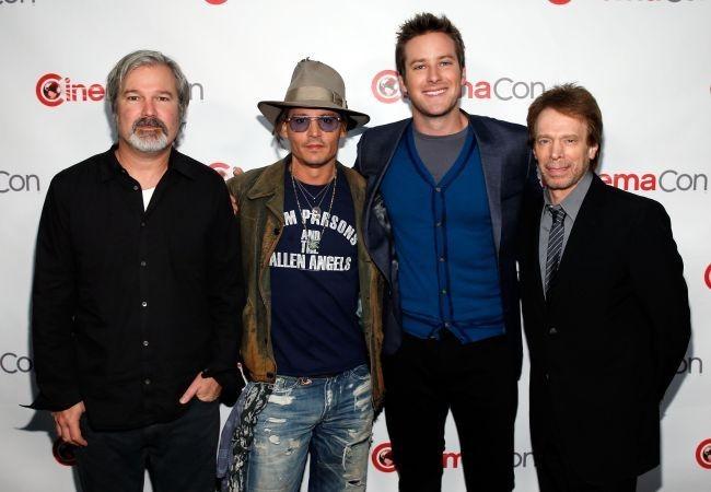 Gore Verbinski, Johnny Depp, Armie Hammer y Jerry Bruckheimer, los artífices de El Llanero Solitario
