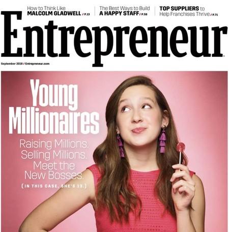 Aline en la portada de Entrepreneur