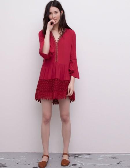 Vestido Boho Rojo