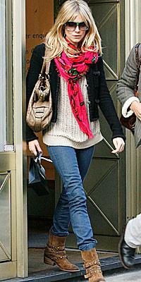 Las botas de Sienna Miller en Zara