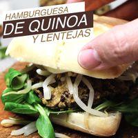 Hamburguesas de quinoa y lentejas. Receta en video