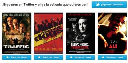 Wuaki.tv regala visionados de películas por hacer tweets