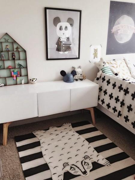 Habitacion infantil en Blanco y Negro