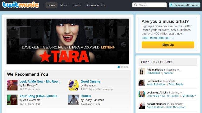 twitmusic, un servicio para reproducir y recomendar canciones a través de Twitter