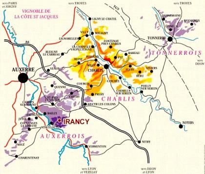 Irancy Mapa