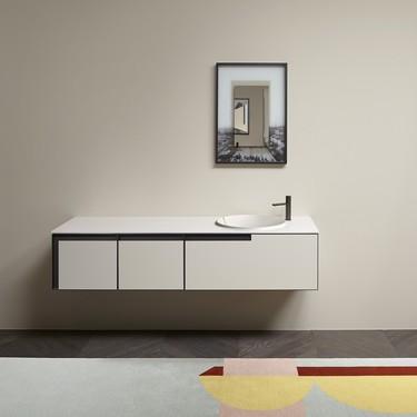 Antonio Lupi innova en su lavabo Breccia haciendo desaparecer el desagüe convencional