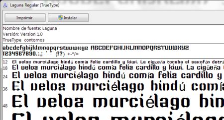 Fuente de FontStruct en el visor de fuentes de Windows
