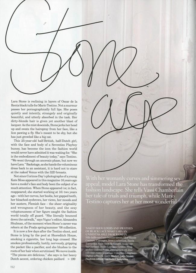 Foto de Lara Stone es la mujer del año para Vogue UK (2/10)