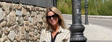 Amelia Bono luce el vestido de rayas de Zara que está llamado a agotarse no tardando mucho