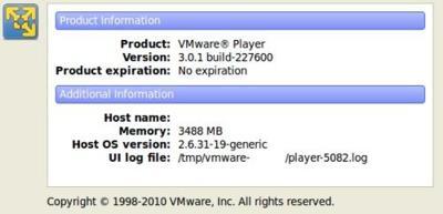 Nueva actualización de VMware Player