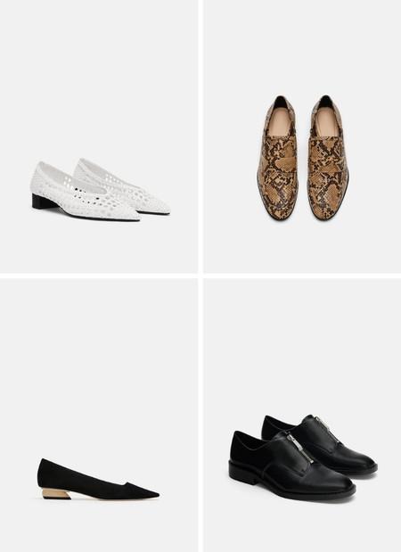 zapatos planos lowcost zara