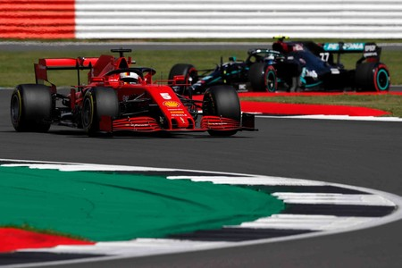 Vettel Bottas Silverstone F1 2020
