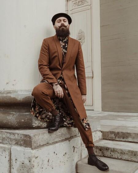 El Mejor Street Style De La Semana Brown Suit Trendencias Hombre 04