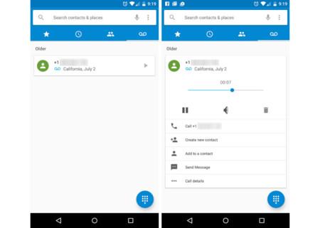 Android M incluirá una pestaña para correos de voz en su aplicación de llamadas