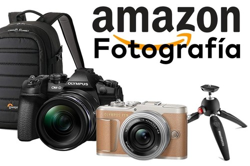Ofertas en fotografía en Amazon para estar preparados para cuando todo vuelva a la normalidad: cámaras y objetivos Olympus, trípodes Manfrotto o mochilas Lowepro a precios rebajados