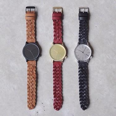 Correas de cuero trenzado para el reloj de moda: KOMONO