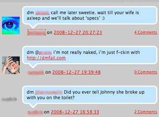 DMFail, mensajes que deberían ser privados