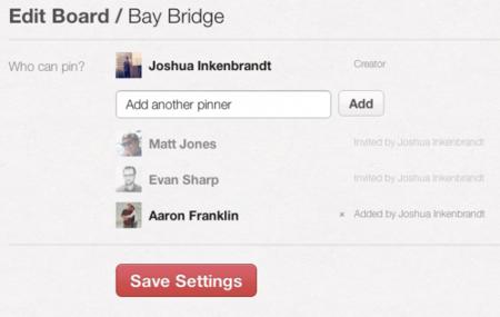 Pinterest mejora y añade funcionalidades a sus boards colaborativos