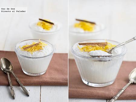 Espuma ligera de leche merengada, receta de aprovechamiento