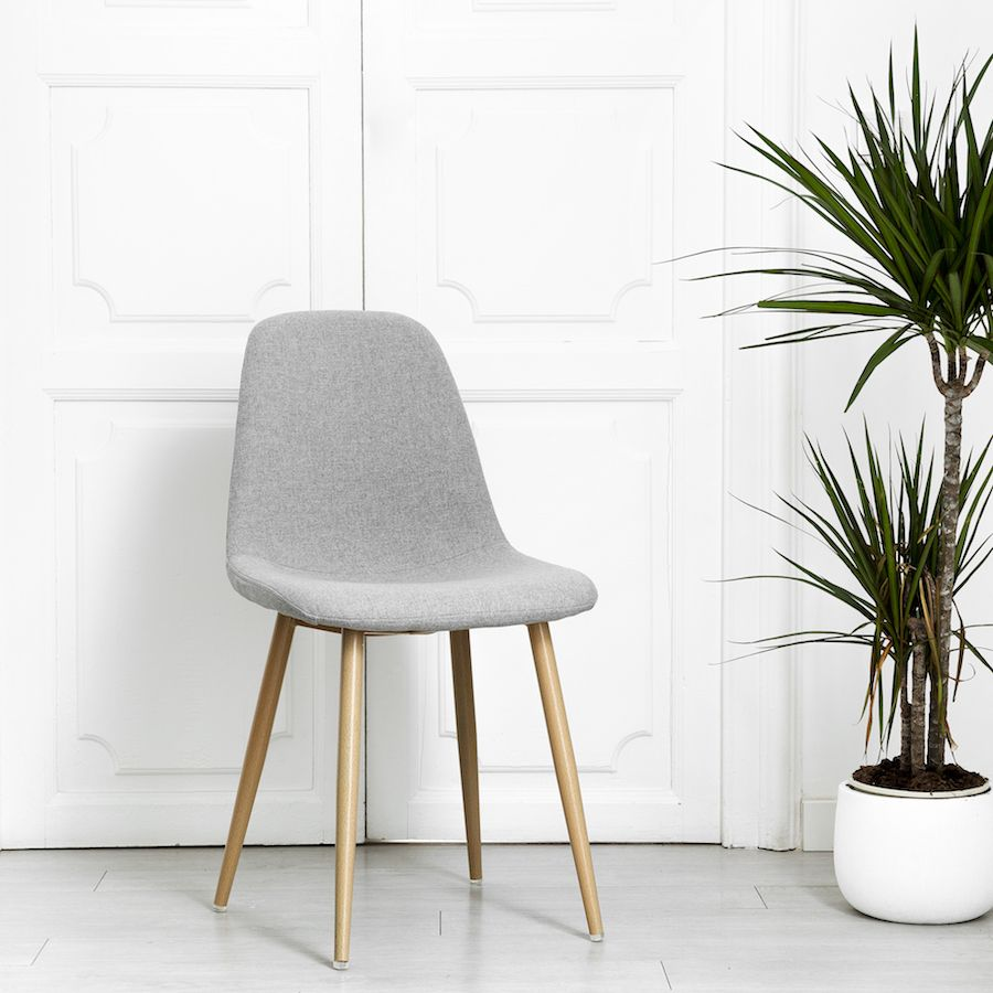 Wave silla gris claro