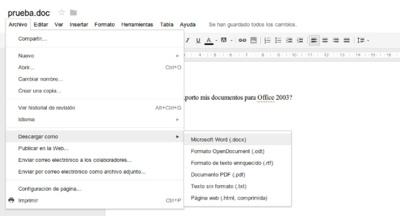 Google Apps dice adiós a la exportación en formato doc, xls y ppt
