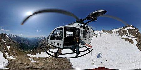Ignacio Ferrando, helicóptero