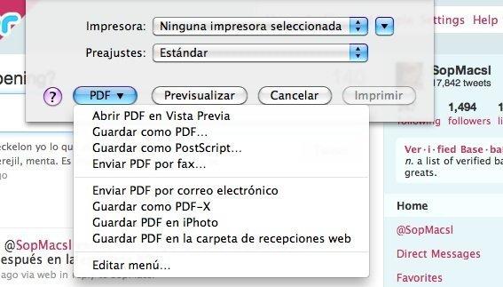 Guardar como PDF en OS X