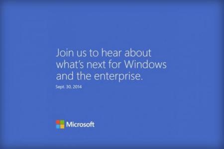¿Windows 9 a la vista?, Microsoft anuncia evento para el 30 de septiembre