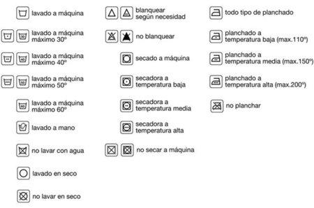 símbolos etiqueta ropa