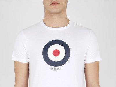 La escarapela de los mods en las camisetas de Ben Sherman
