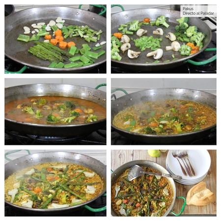 Paella Verduras Vegana Pasos By Pakus